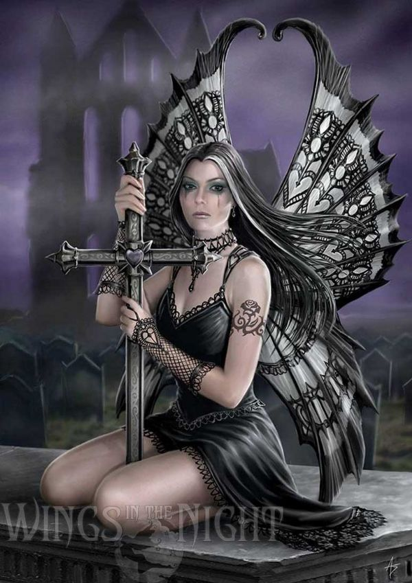 Anne Stokes Gothic Fairy Lost Love Greeting Card